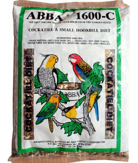 Bags of Complete Cockatiels Foods