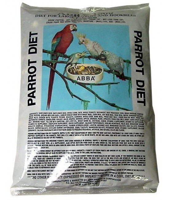 Bags of Complete Parrots Foods