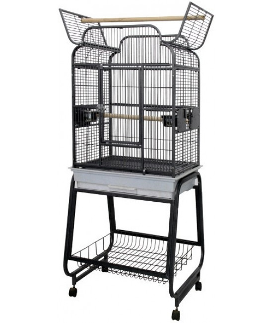 AE Bird Cage Victorian with Plastic Base 22x17