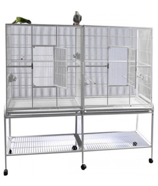 AE Double Flight Cage with Divider  64x21