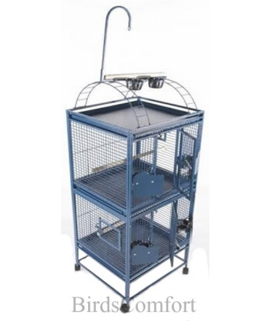 AE Double Stack Breeder Cage with Play Top 24x22
