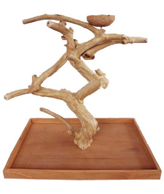 AE Java Wood Tabletop Play Stand