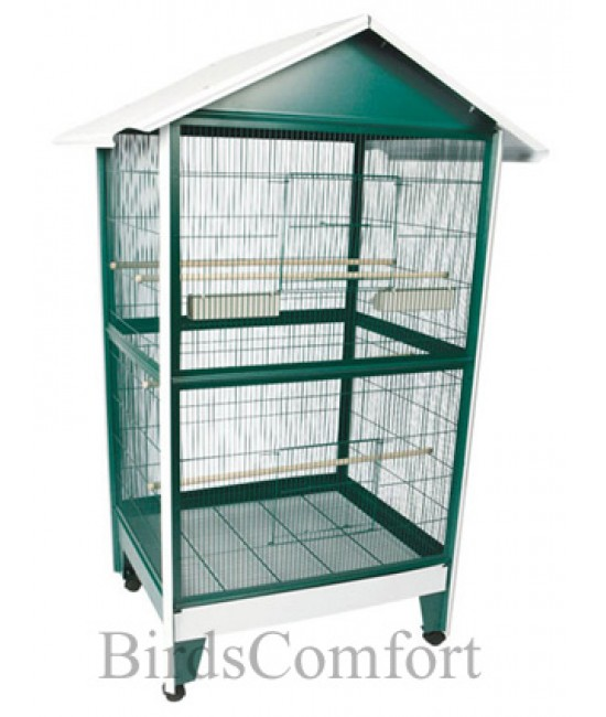 AE Large Pitched Roof Aviary BirdCages 43x32