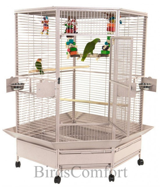 AE Large Bird Corner Cage 61x48
