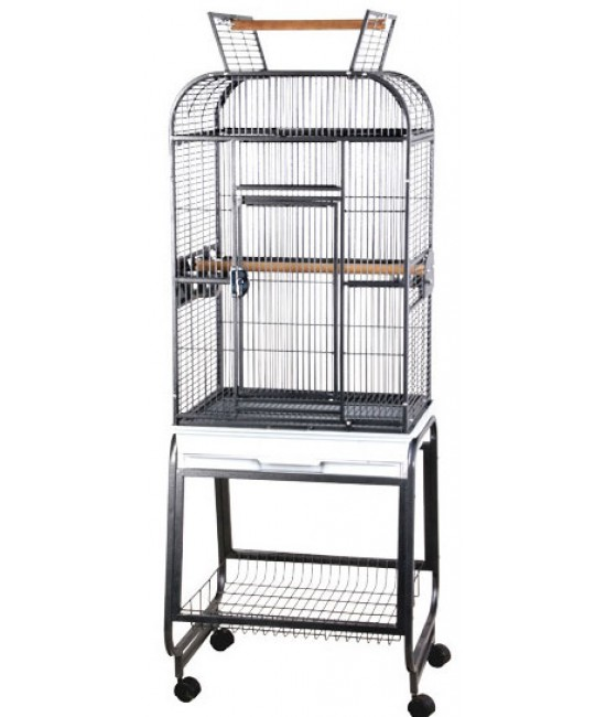 AE Play Top Parakeet Cage with Plastic Base 22x17