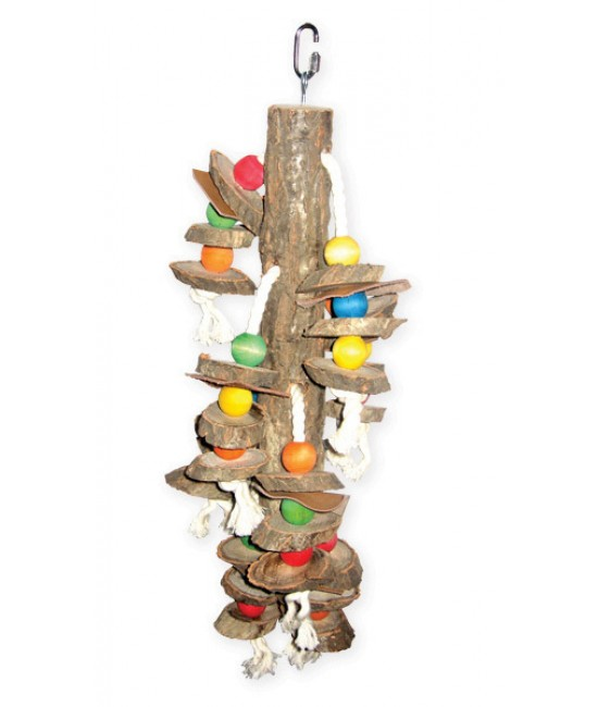Hanging Wood Cylinders Bird Toys