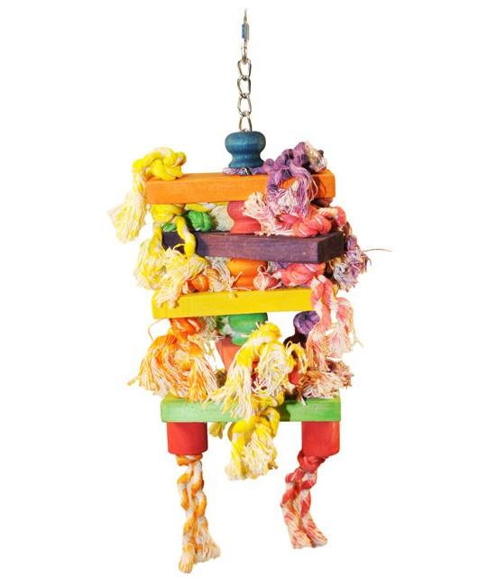Hanging Wood Rectangles Bird Toys