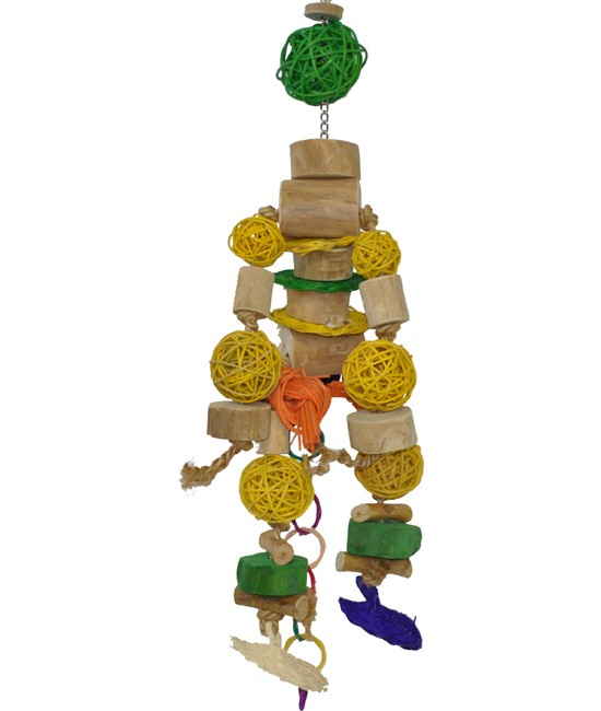 Java Wood Robot Rotan Bird Toy