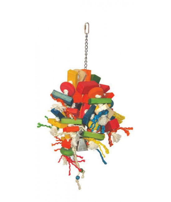 Large Blocks Cluster Bird Toy