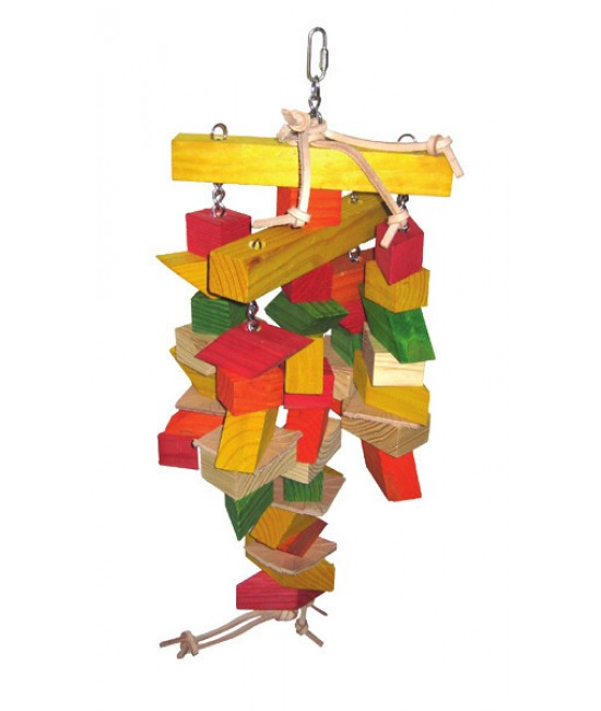 Large Parrallelogram Wooden Bird Toys