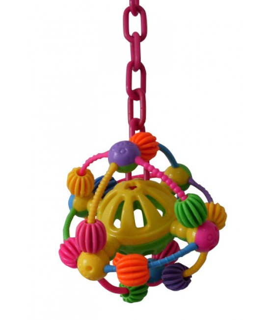 Space Ball on a Chain Bird Toys