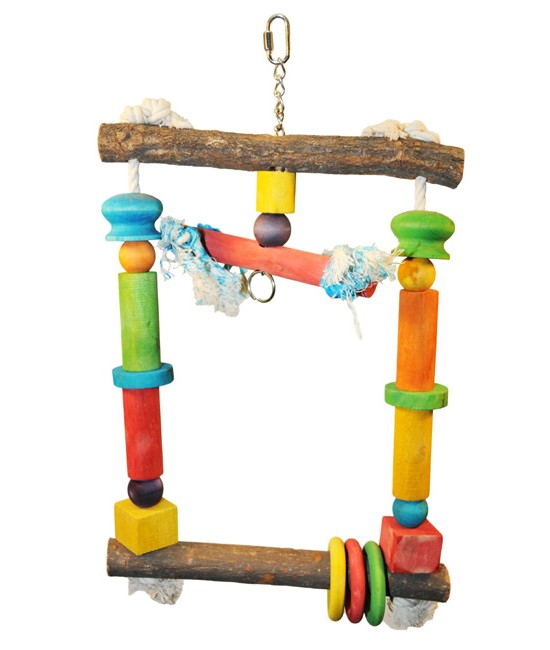 Wood Swing with Rope