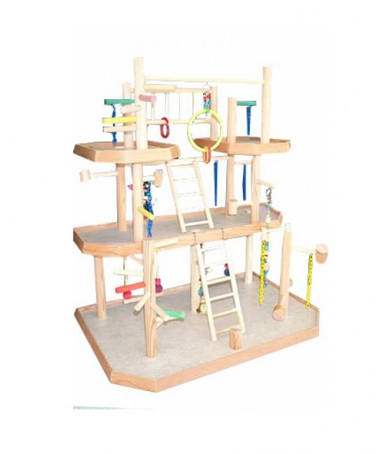 3 4 In Octagon Bird Toys : Bird gyms presented by birdscomfort
