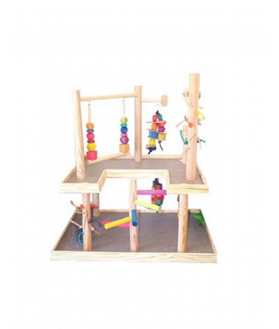 Parrot Wooden Play Gym Parrot-1