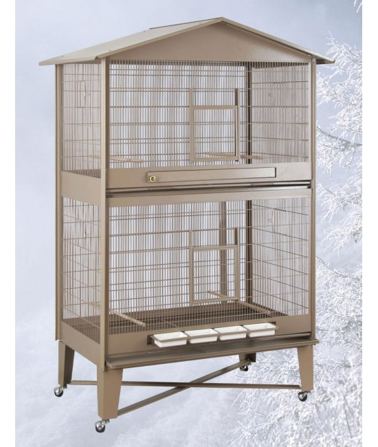 HQ Aviary with Horizontal Divider 40x24
