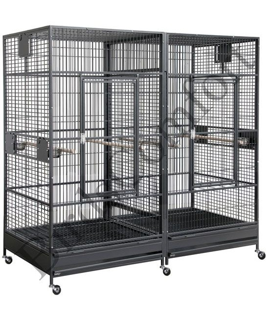 HQ Giant Double Bird Cages 80x40