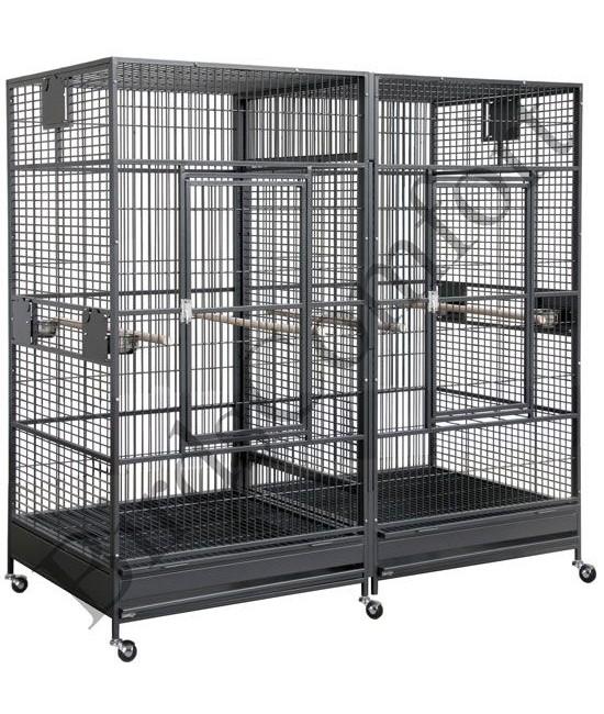 Hq Giant Double Bird Cages 80x40 By Birdscomfort Com