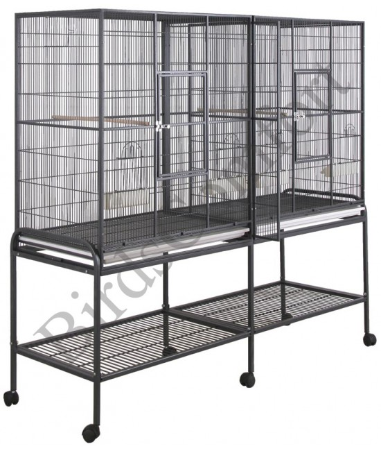 HQ Double Flight Bird Cage 64x21