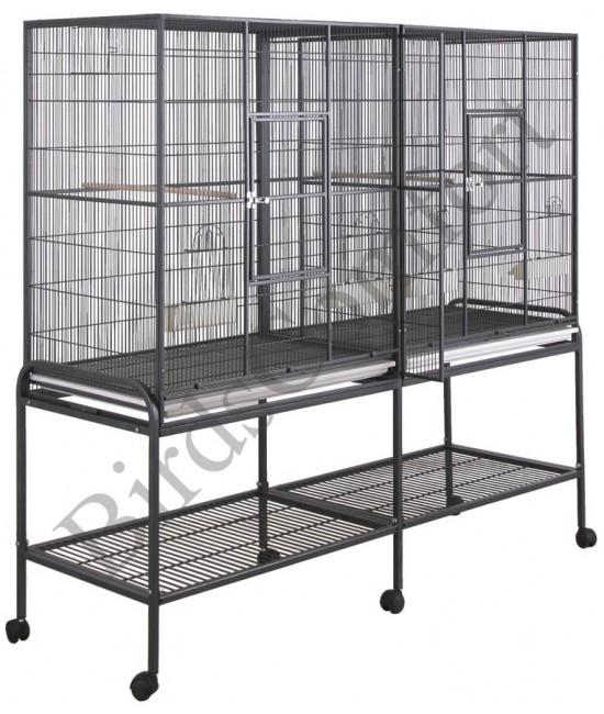 HQ Double Flight Bird Cage 64x21