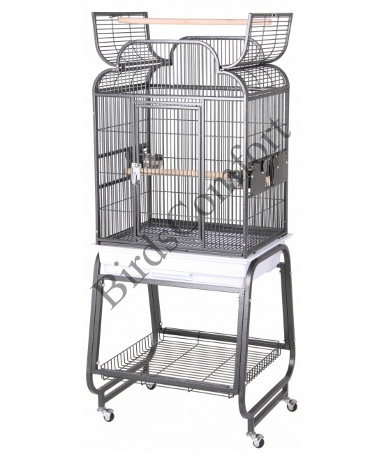 HQ Open Small Bird Cage With Cart Stand 22x17