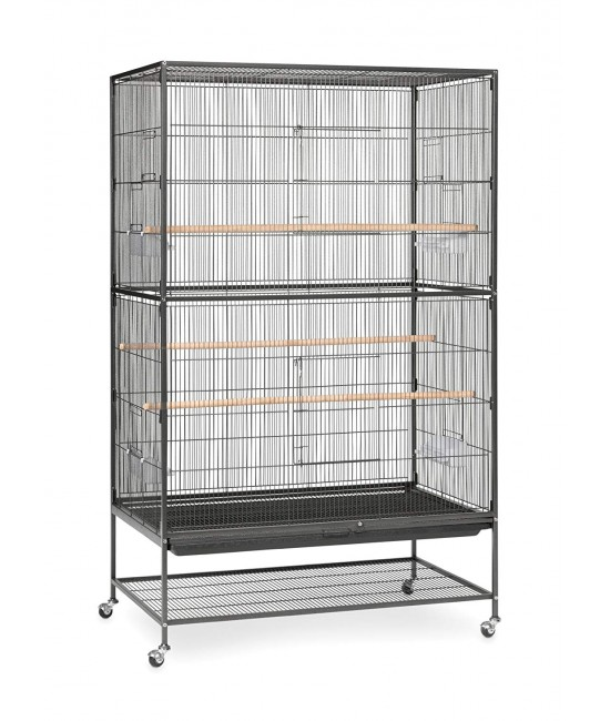 Prevue Pet Extra Large Flight Wrought Iron Cage Black