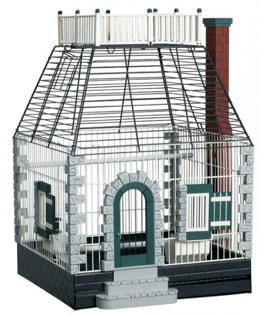 FeatherStone Heights Stone Cottage Bird Cage