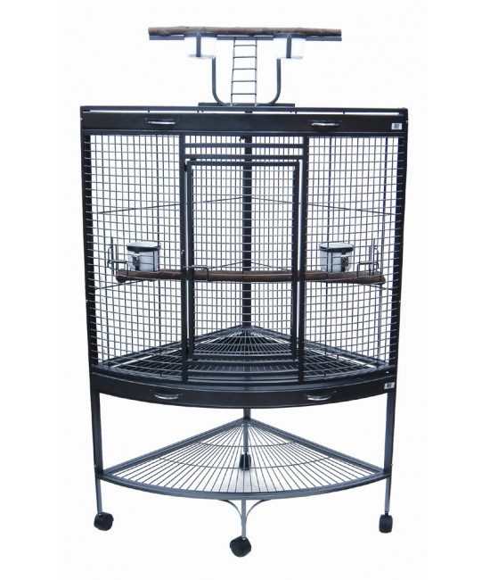 Corner Wrought Iron Parrot Cage