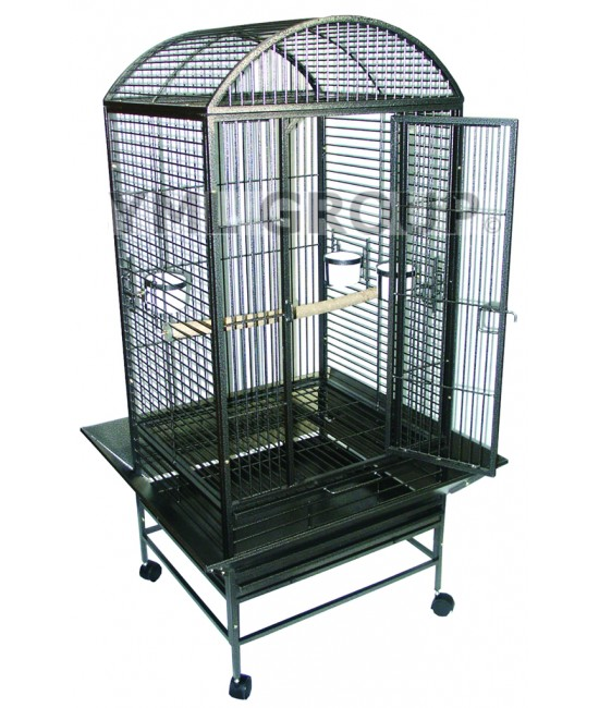 Dome Top Wrought Iron Parrot Cage