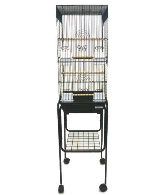 Square Bird Cage With Stand