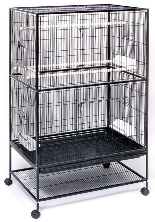 Hq Double Flight Bird Cage 64x21 By Birdscomfort Com