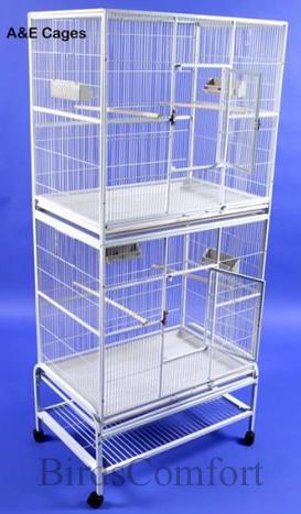 Ae Double Stack Flight Cage 32x21 By Birdscomfort Com